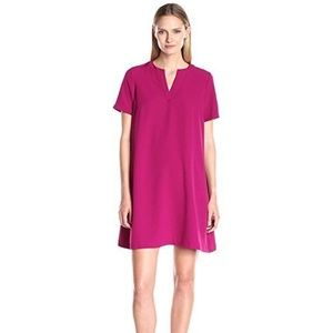 Adrianna Papell Women's Split Neck Shift Dress